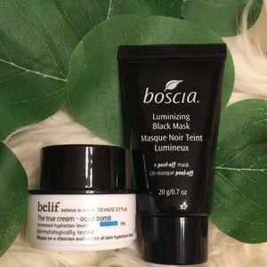 Boscia & Belif Mask & Cream